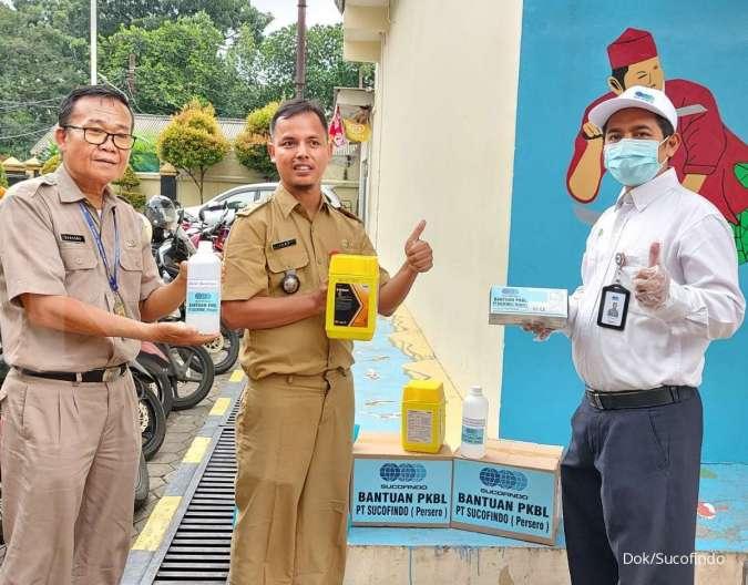 Sucofindo Peduli, Bantu Disinfektan untuk Kelurahan Pancoran Jaksel, Cegah Penularan Covid-19