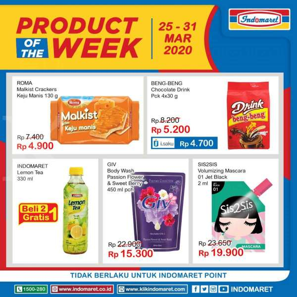 Promo Indomaret Product of The Week 25-31Maret 2020