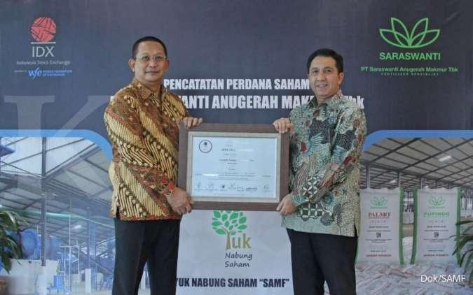 Resmi melantai, saham Saraswanti Anugerah Makmur (SAMF) langsung melesat 35%