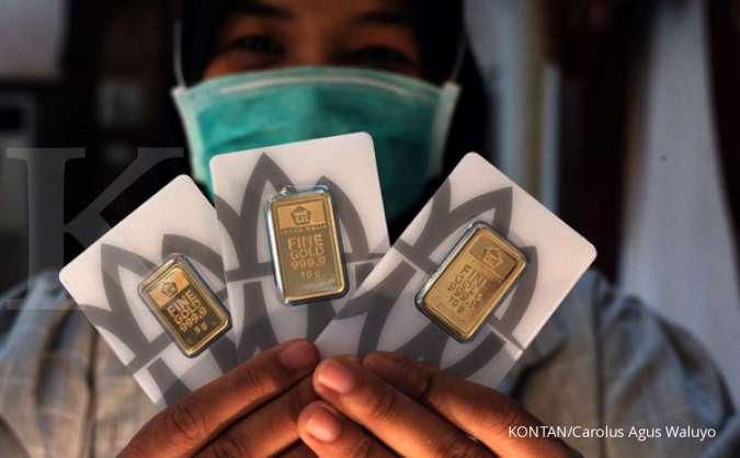 Harga Emas 24 Karat Antam Hari Ini Turun Rp 7 000 Per Gram Sabtu 9 Mei 2020