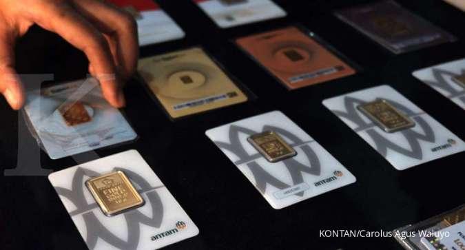 Harga emas 24 karat Antam hari ini naik Rp 5.000 p