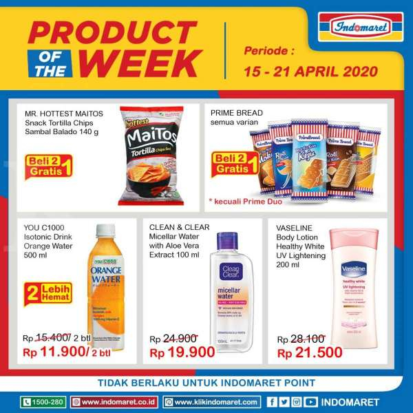 Promo Indomaret Product of The Week 15-21 April 2020