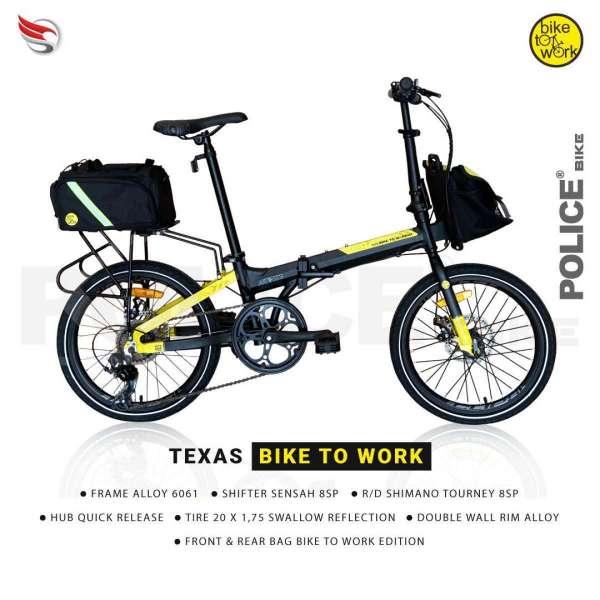 Police Bike sepeda lipat edisi terbaru dijual murah