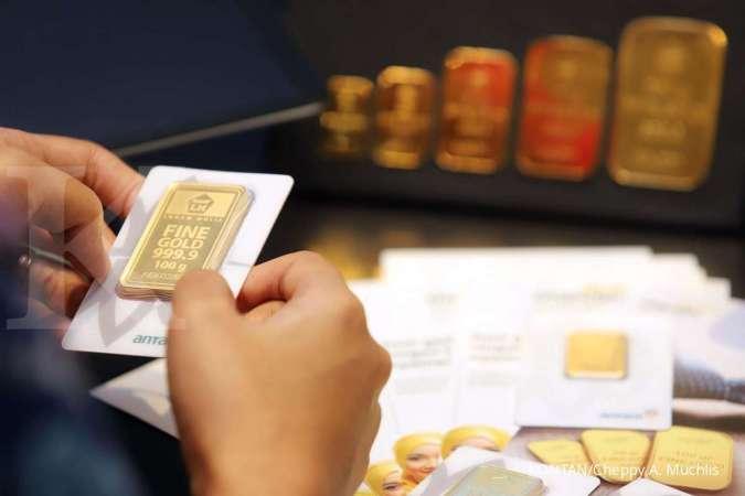 Harga emas 24 karat Antam hari ini naik Rp 2.000 p