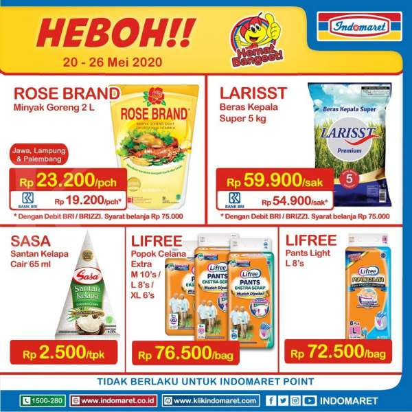 Promo Indomaret Product of The Week 20-26 Mei 2020