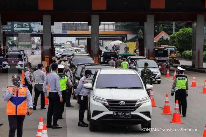 Larang mudik, Jasa Marga (JSMR) catat jumlah kendaraan masuk Jakarta turun 66% di H+2