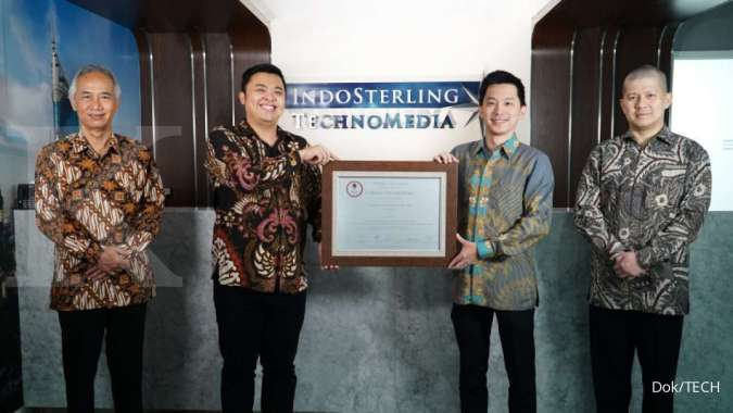 Pencatatan perdana saham PT Indosterling Technomedia Tbk (TECH) pada 4 Juni 2020. DOK/TECH