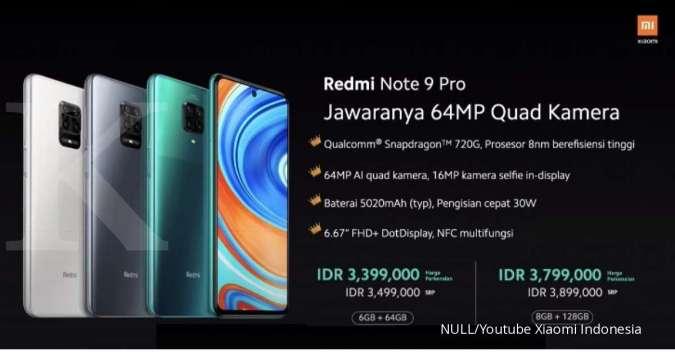 Harga Xiaomi Redmi Note 9 Pro Mulai Turun Ada Diskon Sampai Rp 100 000