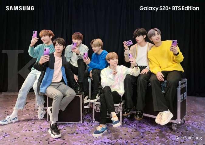 Hore, Galaxy S20 Plus dan Buds Plus edisi BTS suda