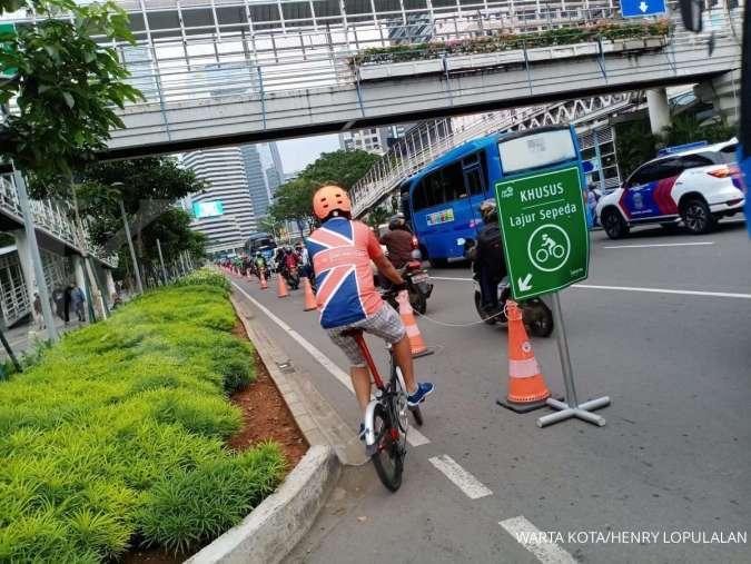 Pemprov DKI bakal permanenkan jalur sepeda di Jalan Sudirman hingga Bundaran HI