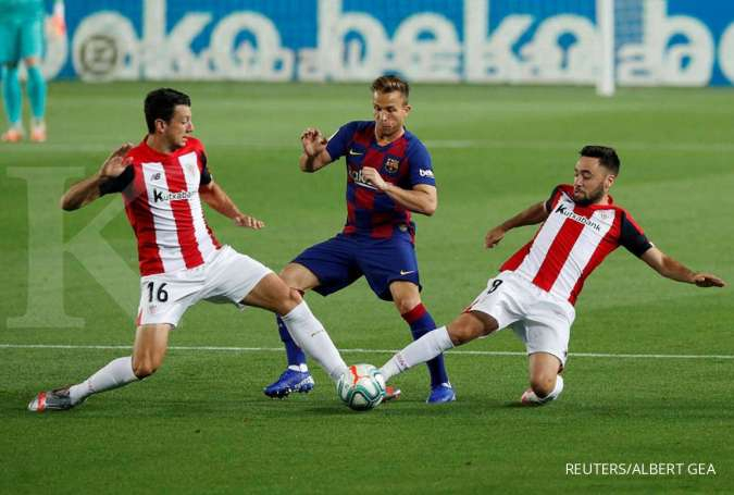 Petandingan La Liga Spanyol antara Athletic Bilbao vs Barcelona musim lalu
