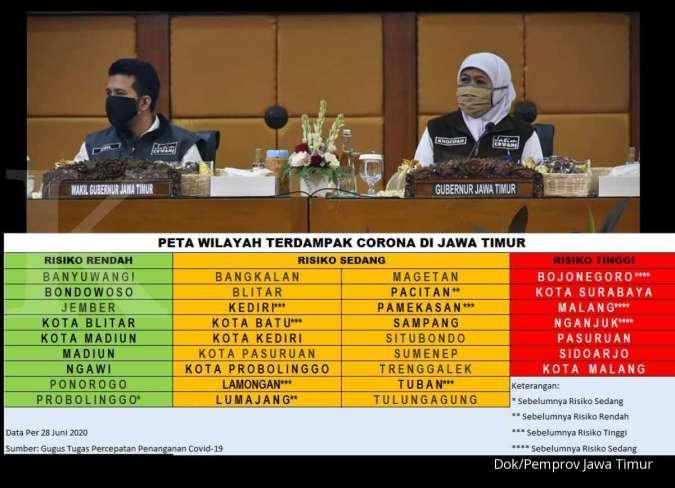 Hore Jumlah Wilayah Zona Merah Corona Di Jawa Timur Turun Drastis Ini Daftarnya