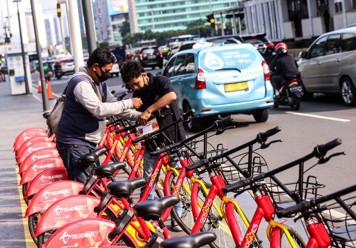 Layanan bike sharing Gowes di Jakarta