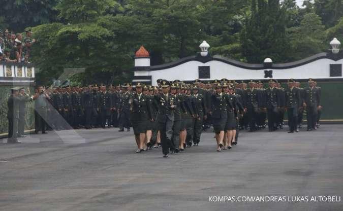 Ilustrasi Secapa AD Bandung. Sejarah TNI di Indonesia.