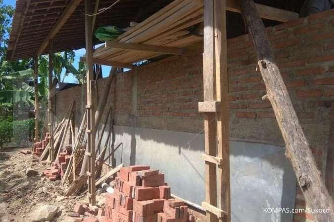 Rumah milik Giman (47) warga Desa Mengger, Kecamatan Karanganyar Kabupaten Ngawi, Jawa Timur.