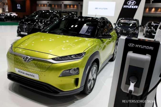 Mobil listrik Hyundai Kona yang dirilis tahun ini.
