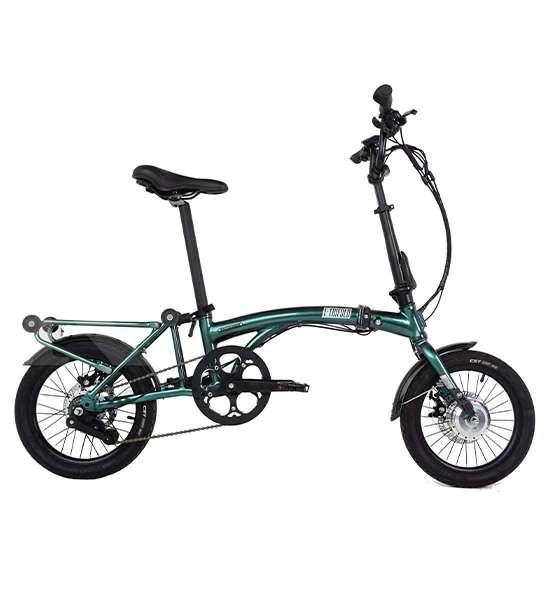 Sepeda lipat United E-Trifold di banderol dengan harga tinggi.