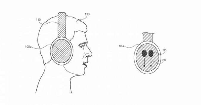 Blueprint headphone yang dipatenkan Apple