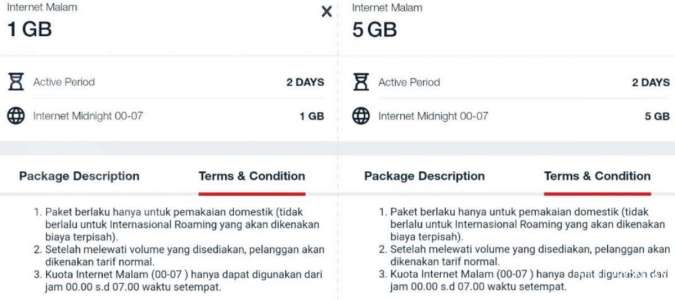Paket internet malam Telkomsel