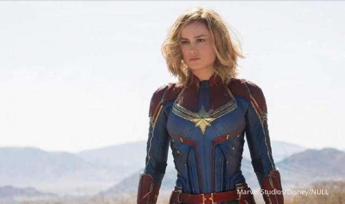 Brie Larson pemeran superhero Captain Marvel.