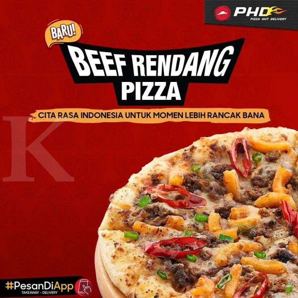 Promo Pizza Hut Delivery Beef Rendang Pizza