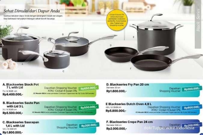 Tupperware promo Agustus 2020 khusus alat masak dan bikin kue, ada empat macam