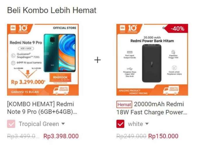Kombo hemat <a href='https://ternate.tribunnews.com/tag/xiaomi' title='Xiaomi'>Xiaomi</a>