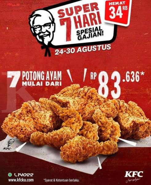 Promo KFC 24 - 30 Agustus 2020