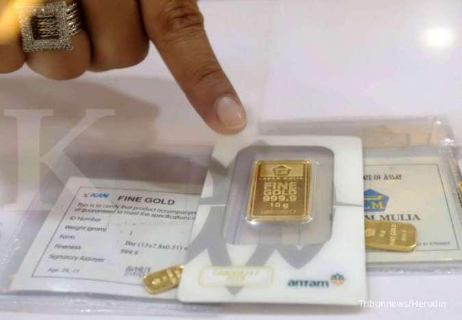 Harga emas Antam di Pegadaian pagi ini Rp 1.072.00
