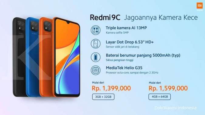 Spesifikasi dan harga Redmi 9C di Indonesia
