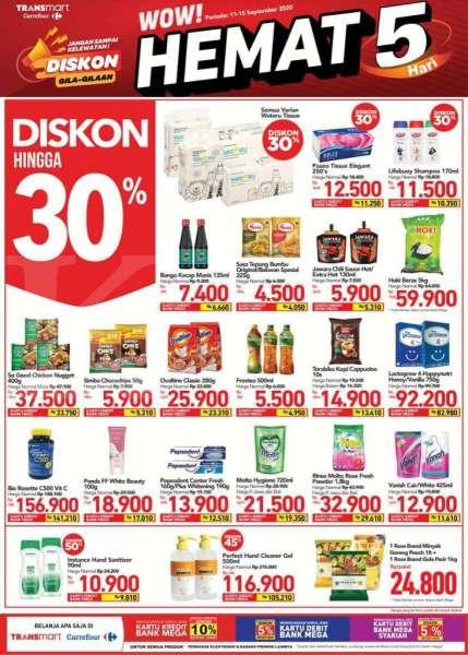 Katalog Promo Jsm Transmart Carrefour 11 15 September 2020 Belanja Hemat 5 Hari Diskon Hingga 30 Tribun Pontianak