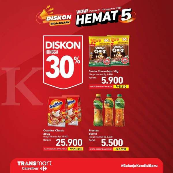Promo Transmart Carrefour 11-15 September 2020