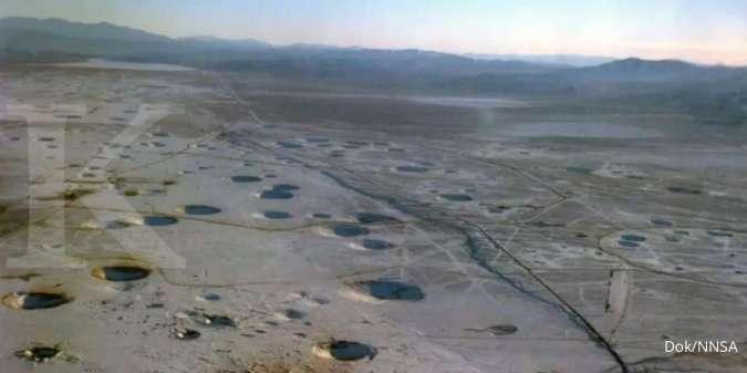Lokasi uji coba nuklir di Nevada Test Site (NTS)