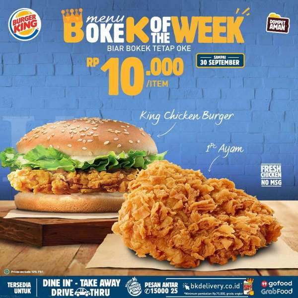 Promo Burger King 18-30 September 2020