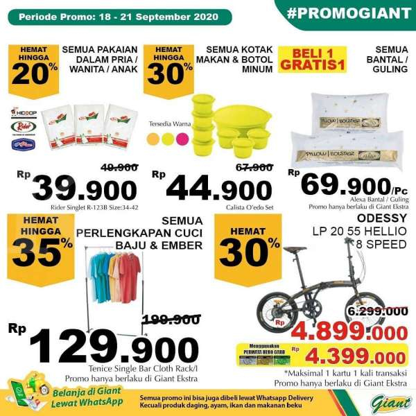 Promo JSM Giant 18-21 September 2020