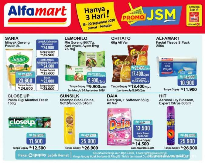 Promo JSM Alfamart 20 September 2020