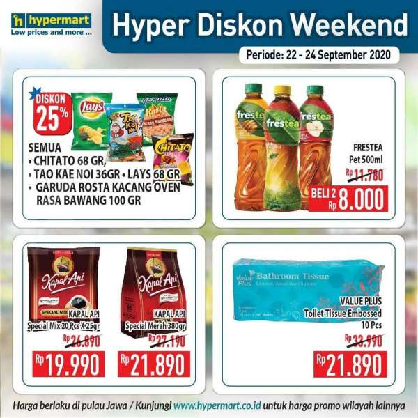 Promo Hypermart weekday 22-24 September 2020