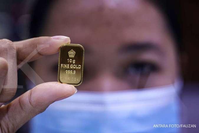 Asyik! Harga emas hari ini (2/12) di Butik Emas Antam terbang Rp 14.000 per gram