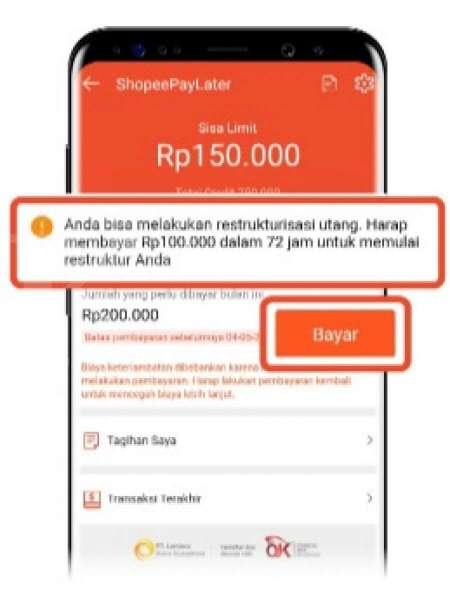 Keringanan pembayaran ShopeePayLater