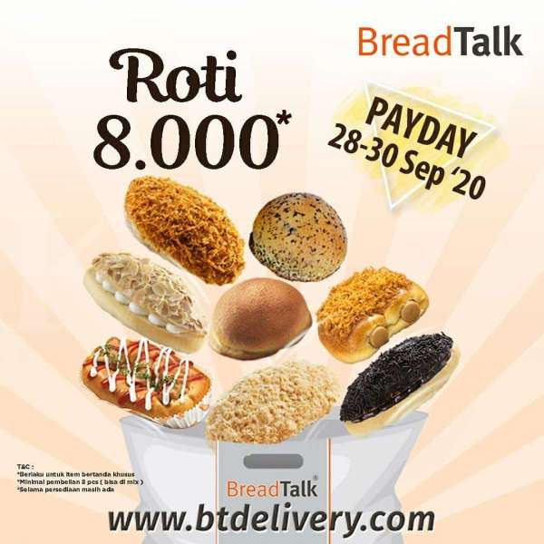 Promo BreadTalk 'Payday' periode 28-30 September 2020