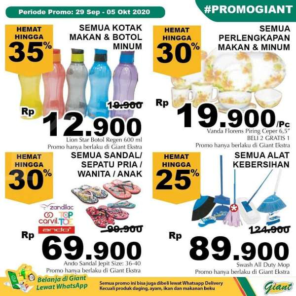 Promo Giant weekday 29 September – 5 Oktober 2020