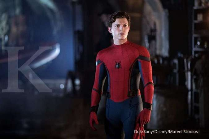 Tom Holland sebagai Spider-Man di film Spider-Man: Far From Home.