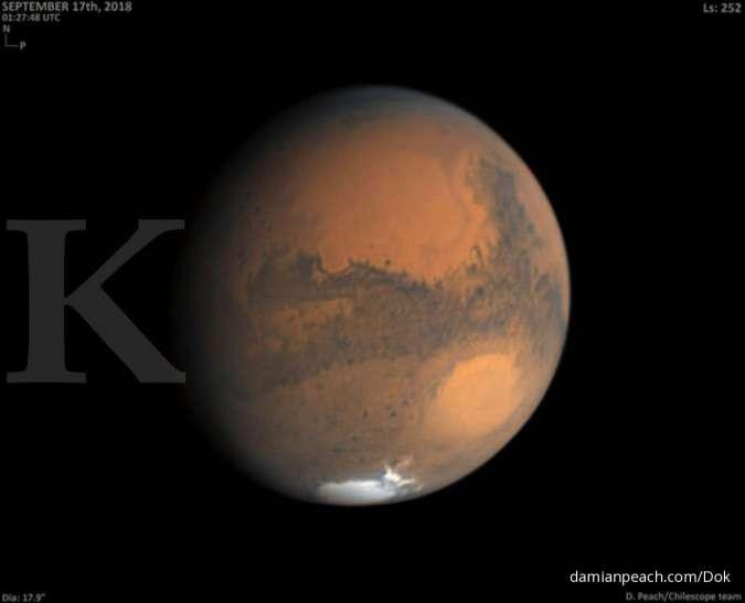 Ilmuwan menduga kehidupan mungkin muncul lebih awal di Mars daripada di Bumi