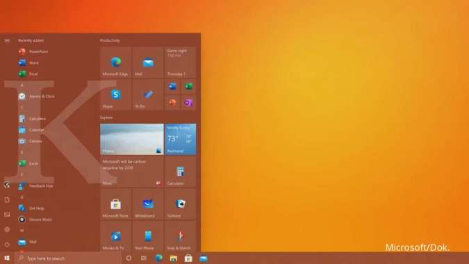 Microsoft rombak tampilan Start Menu Windows 10 lebih fresh lewat update Oktober 2020