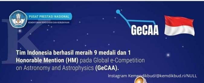 Selamat! Siswa Indonesia berhasil borong medali di olimpiade internasional.