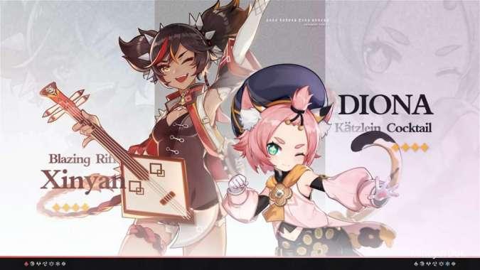 ILUSTRASI: Xinyan, Diona - Genshin Impact