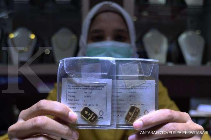 Harga emas hari ini (30/11) di Butik Emas Antam tetap 942.000 per gram
