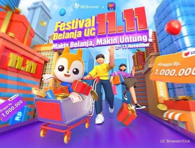 Rayakan festival belanja 11.11, UC Browser berkolaborasi dengan Lazada