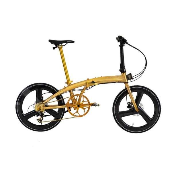 Sudah beredar, harga sepeda lipat Element Ecosmo 11SP gold velg carbon bikin pusing