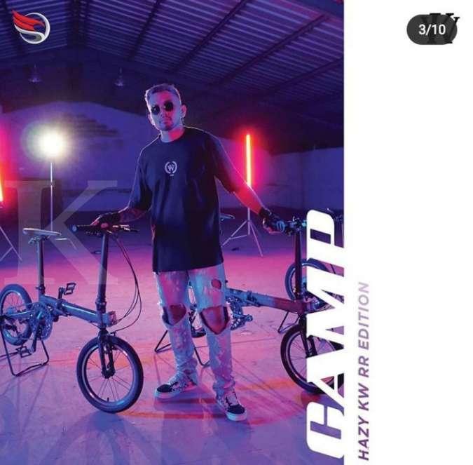 Terbaru, harga sepeda lipat Camp Hazy KW x Roy Ricardo bersahabat di kantong
